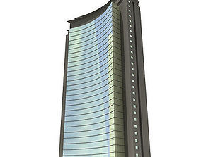 Curved glass Building 124 3D model