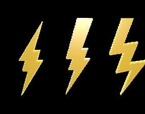 Thunder symbols voxel 2 3D