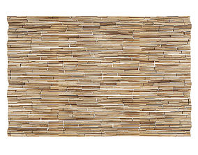 3D Wood Fragments Wall Panel