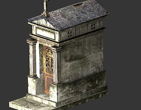 3D model Weathered Grave Mausoleum