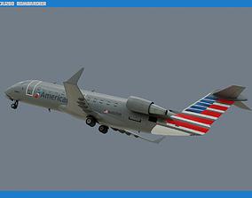 3D asset CRJ200 American Eagle