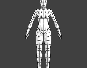 3D asset Generic Low-poly Basemesh Female
