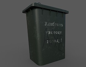 various 3D asset game-ready Trash can