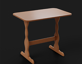 3D model Wooden Dining Table kitchen