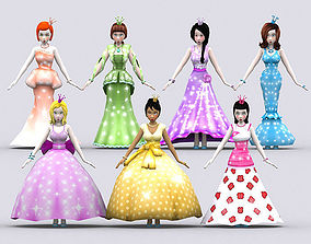 3DRT - Fantasy Princesses animated