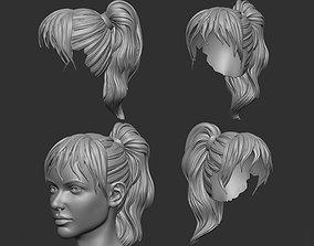 3D printable model hair 6