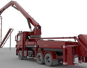3D model Concrete Pump Vehicle