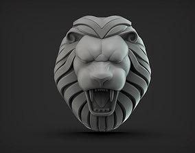 3D print model Lion Head Stylized