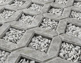 3D Eco parking pebble tiles