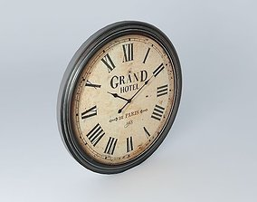 GRAND HOTEL clock houses the world 3D