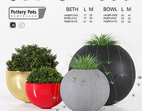 3D model Pottery Pots four