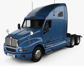3D Kenworth T2000 Sleeper Cab Tractor Truck 2010