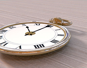 3D model Realistic Golden Pocket Watch