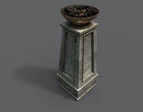 Fire column 3D asset