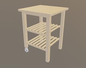 3D asset Wooden Cart indoor