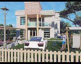 3D villa neoclassic 02