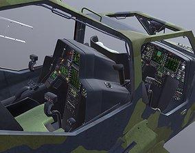3D model Eurocopter Tiger EC665 Cockpit Bundeswehr 2