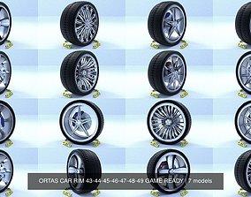 ORTAS CAR RIM 43-44-45-46-47-48-49 GAME READY 3D