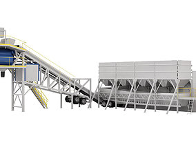 3D model STATIONARY BATCHING PLANT Kaptan