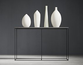 3D Console Table and Vases