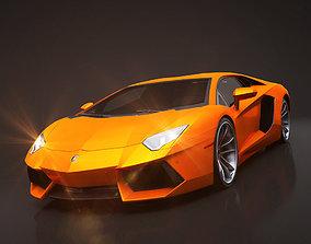 Lamborghini Aventador Rigged C4D 3D