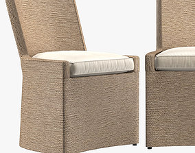 MARISOL SEAGRASS WOVEN BASE TRACK SIDE CHAIR 3D