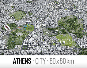 3D asset Athens - city and surroundings