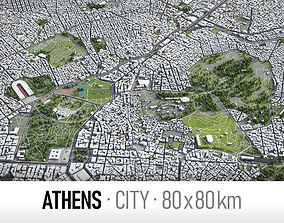 Athens - city and surroundings 3D asset