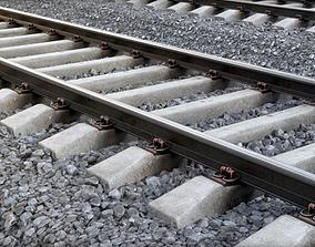 Railway crushedstone 3D