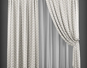 Curtain 3D model 146 VR / AR ready