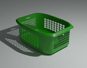 3D model low-poly Laundry Basket