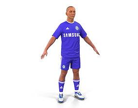 Soccer Player Chelsea 3D Model