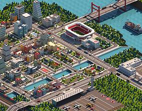 3D asset Cartoon City Pack