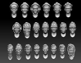 3D printable model heads caps
