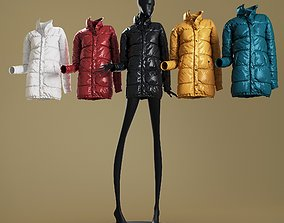 3D model Mannequin6014 coll60 oversized puffer coat