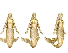 Mermaid jewelry 3d silver