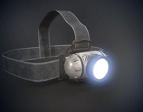 Flashlight 3D asset low-poly