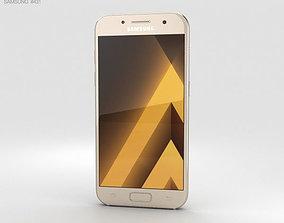 3D Samsung Galaxy A3 2017 Gold Sand