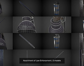 3D model Assortment of Law Enforcement