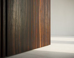 Ebony wood veneer seamless texture 3D