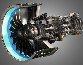 gearbox 3D PW GTF Geared Turbofan Engine - Cutaway