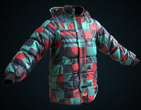 3D asset Snowboarding winter jacket