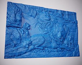 3D print model Panel - Wolf family