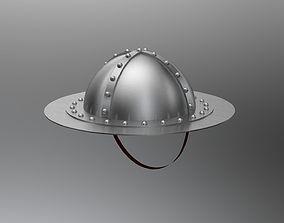 Medieval infantrymen helmet 3D brushed