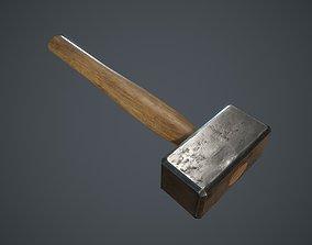 Forging Hammer 3D model game-ready