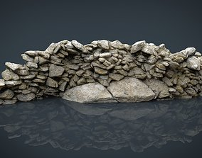 Stone Wall 3D asset realtime