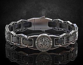 3D printable model Bracelet compass any length stylish 2