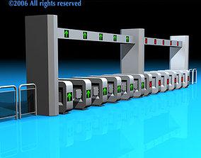 3D model Subway gates