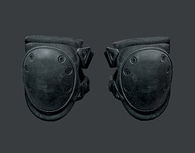 Military Knee Pad Equipment Gear Game Ready 3D asset