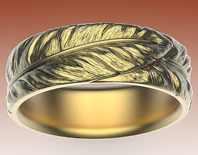 3D print model Ring Feathers
